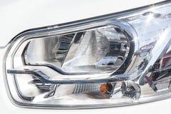 koplamp van prestigieuze autoclose-up royalty-vrije stock foto's