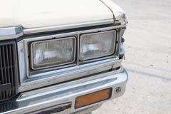Koplamp van Uitstekende Auto royalty-vrije stock afbeeldingen