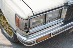 Koplamp van Uitstekende Auto royalty-vrije stock foto's