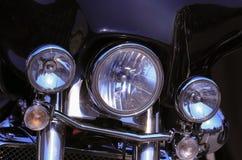 koplampclose-up van motorfiets stock foto