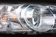 Koplampen moderne auto royalty-vrije stock foto's
