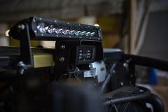 Koplampen van dichte omhooggaand van ATV quadbike Stock Fotografie