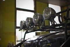 Koplampen van dichte omhooggaand van ATV quadbike Stock Afbeelding
