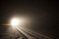 Koplampen van trein stock afbeelding