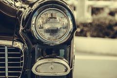 Koplamplamp van retro klassieke auto uitstekende stijl Royalty-vrije Stock Foto's