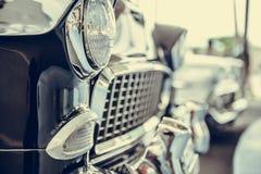 Koplamplamp van retro klassieke auto uitstekende stijl Stock Fotografie