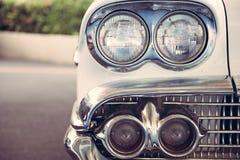 Koplamplamp van retro klassieke auto uitstekende stijl Royalty-vrije Stock Fotografie