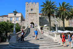 Kopnena Vrata Land Gate in Korcula old town, Croatia Stock Photography