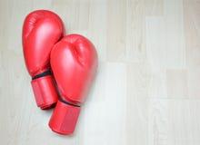 Kopnięcie bokserskie rękawiczki Fotografia Stock