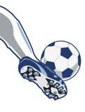 kopnięcie piłka nożna Zdjęcie Royalty Free