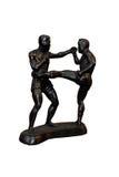 Kopnięcie boksera czerni model Zdjęcie Royalty Free