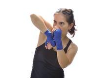 Kopnięcie boksu kobieta Fotografia Stock
