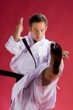 kopnięcie karate. Obraz Royalty Free