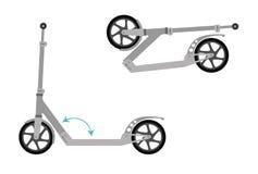 Kopnięcie roweru hulajnoga Zdjęcia Stock
