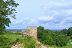 Koporye Fortress. In Leningrad Oblast, Russia Royalty Free Stock Photography