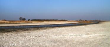 Kopovo van Slano van de zout moeras natuurlijke reserve Royalty-vrije Stock Afbeeldingen