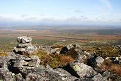 Kopowie lub skała wypiętrzają na wierzchołku góra Zdjęcia Royalty Free
