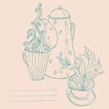 kopp av aromatiskt te Royaltyfri Illustrationer
