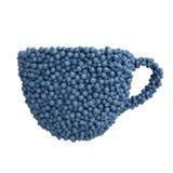 Kopp av blåbär Vektor Illustrationer