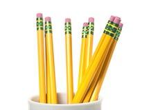 Kopp av blyertspennor Arkivfoton