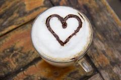 Kopp av cappuccino Arkivbilder