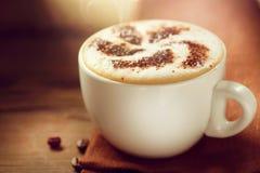 Kopp av cappuccino Fotografering för Bildbyråer