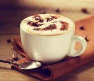 Kopp av cappuccino Arkivfoton