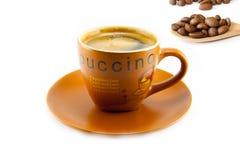 Kopp av cappuccino och kakor Royaltyfri Fotografi