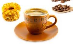 Kopp av cappuccino och kakor Royaltyfria Foton