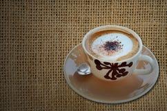 Kopp av cappuccinokaffe Fotografering för Bildbyråer