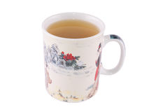 Kopp av grönt te Arkivfoto