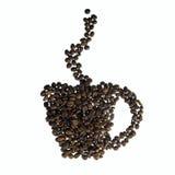 Kopp av grillade kaffebönor Fotografering för Bildbyråer