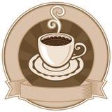 Kopp av kaffe royaltyfri illustrationer