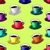 Kopp av kaffe eller tea modell Arkivbild
