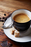 Kopp av kaffe med farin Royaltyfri Bild