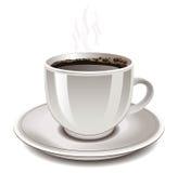 Kopp av kaffe, vektor. stock illustrationer