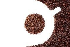Kopp av kaffebönor Arkivbild