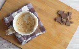 Kopp av latte Mjölka översvämningen sömlös bakgrund Royaltyfri Foto