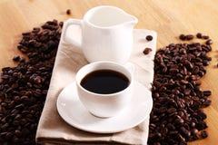 Kopp av varm coffe Arkivfoto