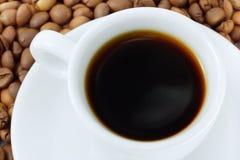 kopp för bönadryckkaffe Arkivbild