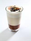 Kopp för chokladvaniljkräm Royaltyfri Fotografi