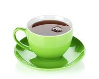 Kopp för grönt te arkivbilder