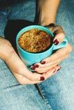 kopp för svart kaffe Royaltyfria Bilder