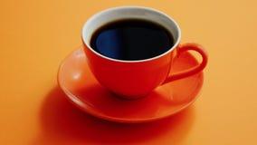 kopp för svart kaffe lager videofilmer