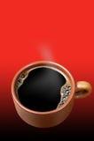 kopp för svart kaffe Arkivfoto