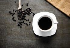 kopp för svart kaffe Arkivbild