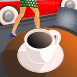 kopp för svart kaffe Fotografering för Bildbyråer