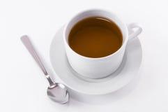 Kopp för svart te Arkivfoton