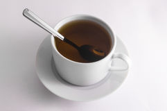 Kopp för svart te Royaltyfri Foto