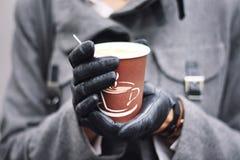 Kopp kaffe Arkivfoto